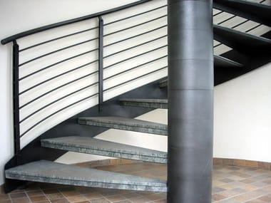 Metal Open staircase Open staircase
