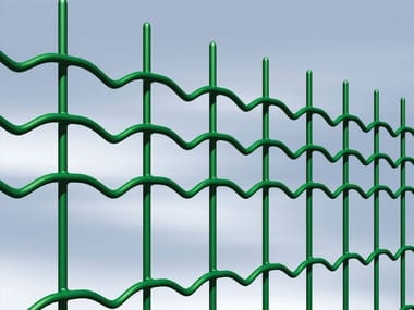 Plasticized electrically welded mesh Fence OVERPLAX