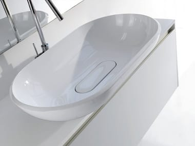 Countertop oval washbasin BOOSTER