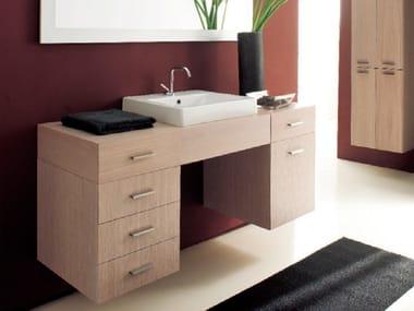 Mobile lavabo sospeso con cassetti MARIPOSA 12