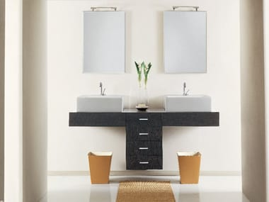 Mobile lavabo doppio sospeso MARIPOSA 14