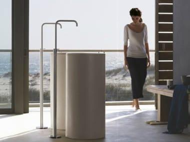 Floor standing chromed brass washbasin mixer FS2 | Floor standing washbasin mixer