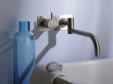 Wall-mounted washbasin mixer with plate 132 | Washbasin mixer