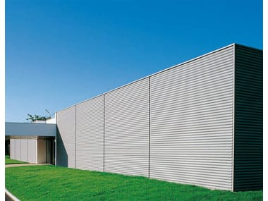 Metal sheet and panel for facade SINUS®