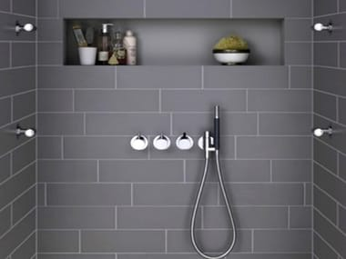 4 hole shower tap with hand shower COMBI-24 | Shower tap with hand shower