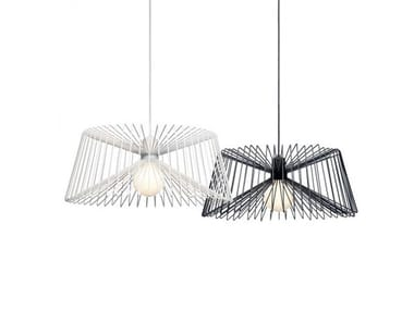 Steel pendant lamp THREE