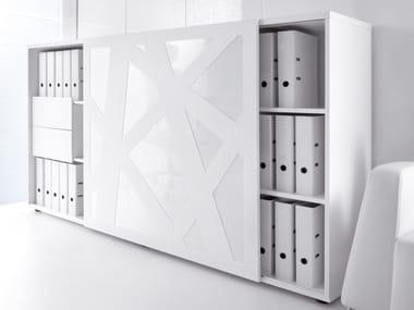 Office storage unit with sliding doors STANDARD | Office storage unit