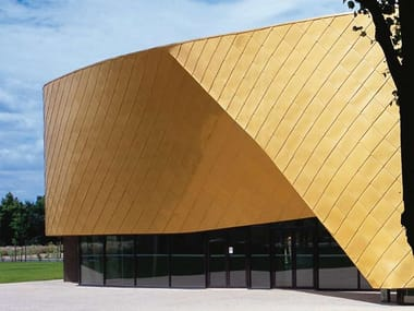 Metal sheet and panel for roof / Metal sheet and panel for facade TECU® Gold