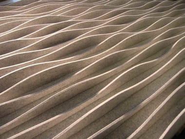 Wool felt decorative acoustical panel LAINE | Wool felt decorative acoustical panel