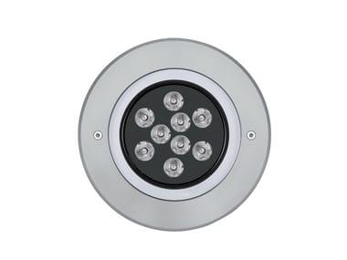 Proiettore per esterno a LED in alluminio MEDIO Anello Inox