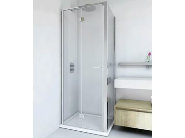 Shower cabin with folding door LIGHT PS + F4