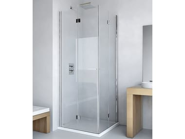 Shower cabin with folding door LIGHT AS + AS