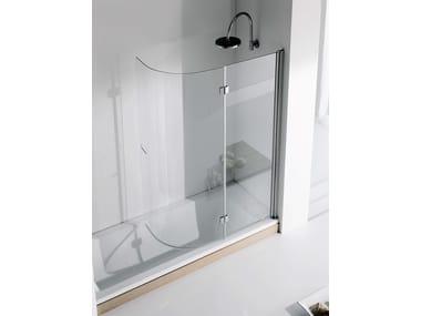 Folding crystal bathtub wall panel LIGHT VR