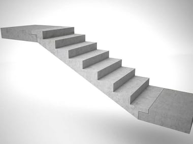 Prefabricated Concrete Open Staircase STAIRS