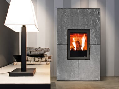 Pellet stove for air heating SQUARE