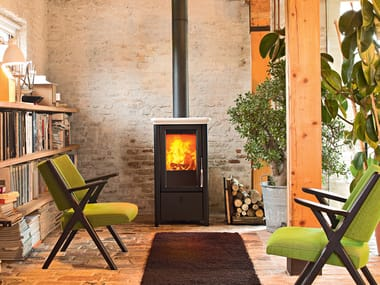Wood-burning stove for air heating BAHR