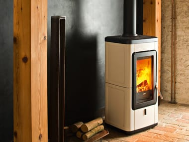Wood-burning stove for air heating VELD