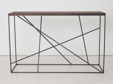 Rectangular steel and wood console table MIKADO | Console table