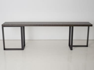 Rectangular steel console table ST MALO | Console table