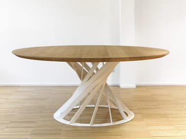 Round wooden dining table TWIST | Table