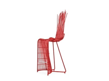Garden stool with high back YODA | Stool