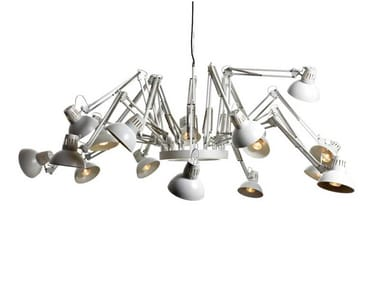 Adjustable steel pendant lamp DEAR INGO