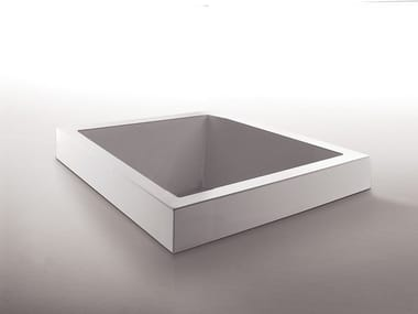 Built-in square methacrylate bathtub GRANDE QUADRA