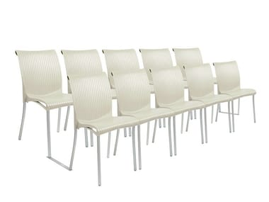 Auditorium waiting room chair with linking device REGINA MEETING