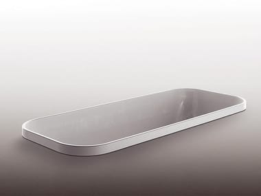 Built-in rectangular methacrylate bathtub GEO