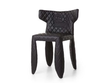 Upholstered imitation leather chair MONSTER CHAIR