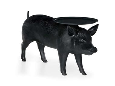 Glass-fibre coffee table for living room PIG TABLE