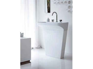 Cristalplant® washbasin LAB 02 | Freestanding washbasin