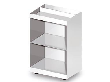 Meuble pour salle de bain en métal à roulettes FARAWAY | Meuble pour salle de bain à roulettes