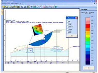 Slope stability test CDD Win