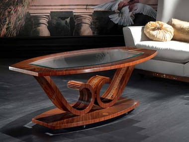 Oval coffee table for living room LE VOLUTE | Coffee table