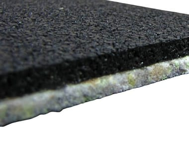 Sound insulation and sound absorbing felt in synthetic material AECOSILENT UNDER