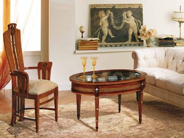 Oval coffee table BACHECA