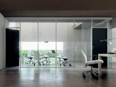 Glass and aluminium movable wall MITIKA | Movable wall
