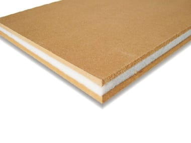 Wood fiber sound insulation and sound absorbing panel PHONOPANEL