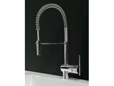 1 hole kitchen mixer tap with pull out spray SPIN | Kitchen mixer tap