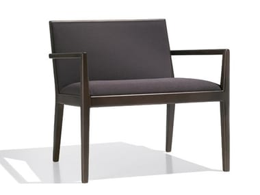 Upholstered easy chair with armrests CARLOTTA   Easy chair with armrests