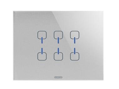Schalter- und Steckdosenprogramm aus Glas ICE TOUCH KNX | Schalter- und Steckdosenprogramm
