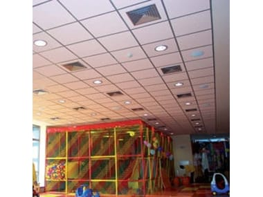 Sound absorbing mineral fibre ceiling panels THERMOFON