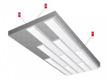 Fireproof rock wool ceiling tiles PAROC CP 60/120 | Ceiling tiles