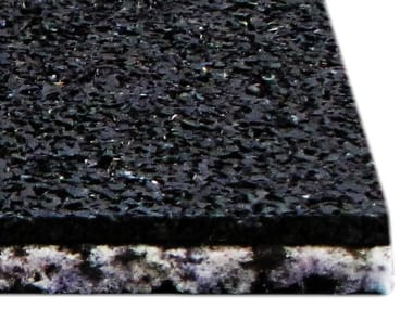 Sound insulation and sound absorbing panel in synthetic fibre AECOSILENT OVER