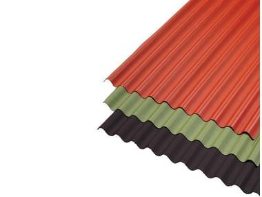 Lastre ondulate bitumate e colorate per copertura LASTRE BITUMATE LAMELLARI
