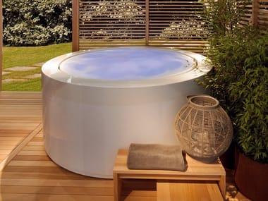 Above-ground overflow round hot tub MINIPOOL | Round hot tub