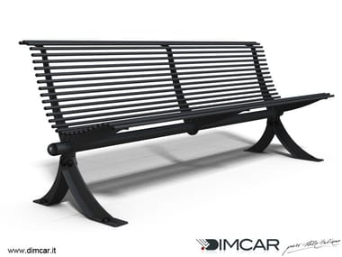 Contemporary style metal Bench with back Panchina Vera