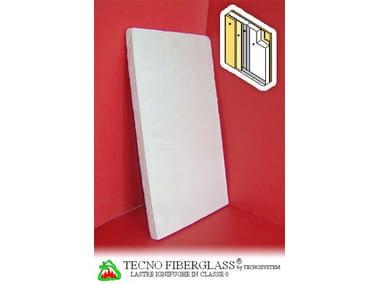Acoustic gypsum plasterboard for partition walls Tecno Fiberglass® per sistemi parete