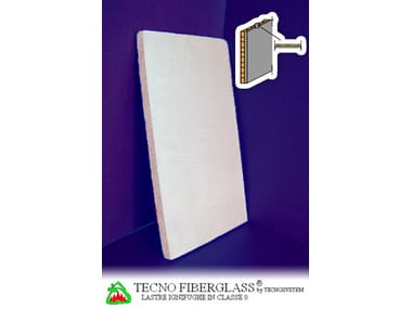 Acoustic fireproof gypsum plasterboard TECNO FIBERGLASS®